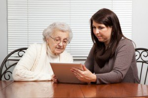grandma using Internet